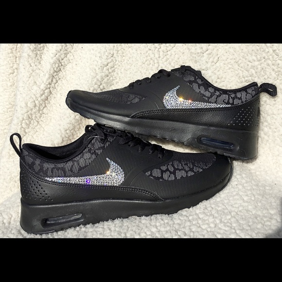 Bling Nike air max Thea shoes Leopard crystal 6ae1c8f40